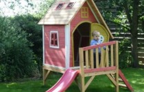 Garden Games Limited Crooked Tower Pre Painted Wooden Play House  Amazon.co.uk  Toys & Games